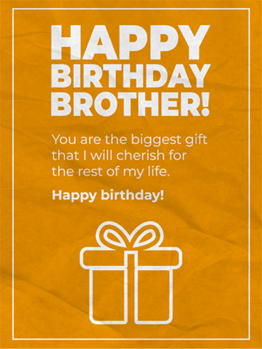 Cherish Him – Birthday Card for Brother