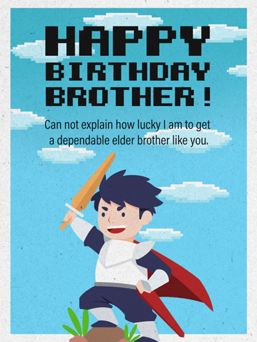 A Brother Is A Knight – Birthday Card for Brother