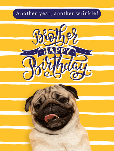 Wrinkle But Cooler – Birthday Card for Brother