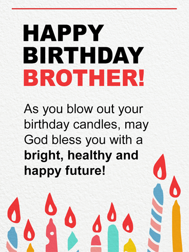 Blow & Make A Wish – Birthday Card for Brother