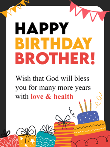 Superb Birthday – Birthday Card for Brother