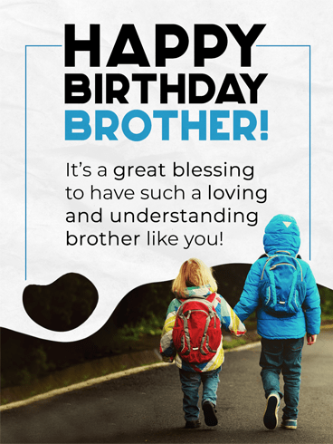 Hand In Hand – Birthday Card for Brother