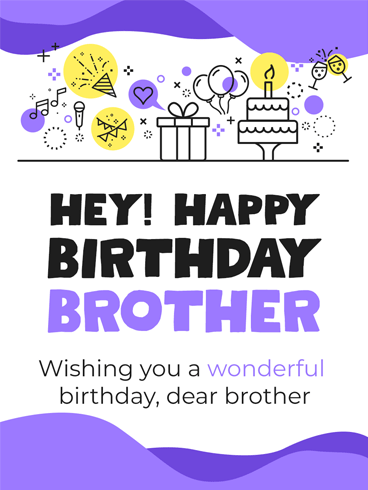Forever Best Brother/Friend – Birthday Card for Brother