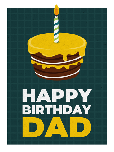 Yellow Choco Cake – Birthday Cards for Father