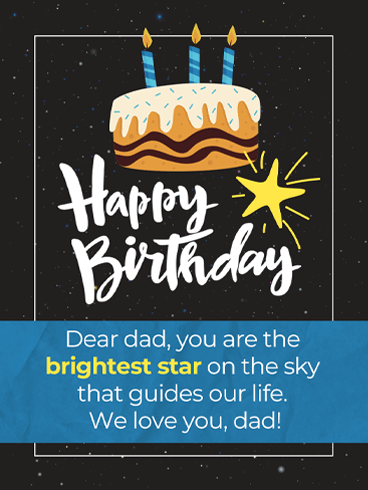 Brightest Star – Birthday Cards for Father