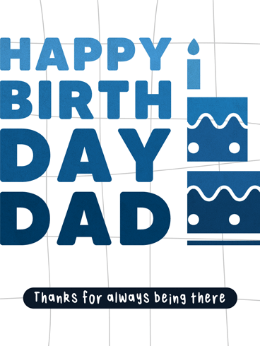 Gratitude Never Ends – Birthday Cards for Father