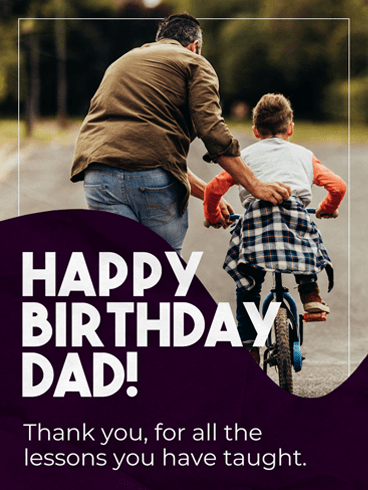 Lessons Learnt – Birthday Cards for Father
