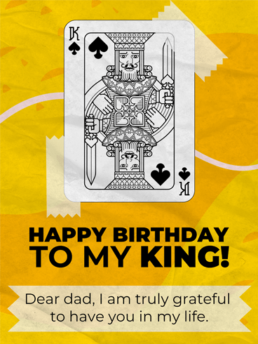 King Card On The Table – Birthday Cards for Father