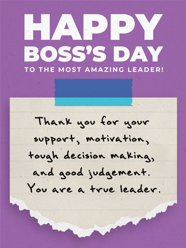 Amazing Boss –  Happy Boss's Day Cards