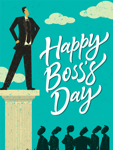 A Pillar –  Happy Boss's Day Cards