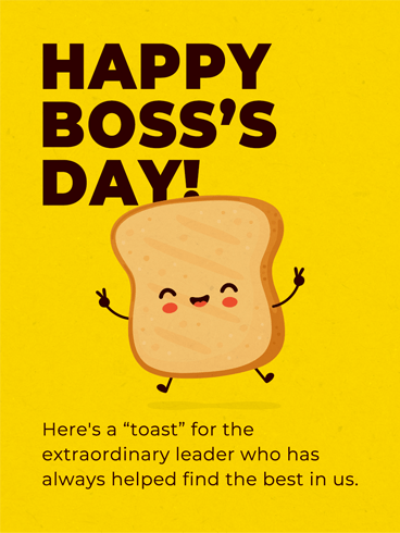 Toast To The Boss –  Happy Boss's Day Cards