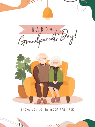 Side by Side – Happy Grandparents Day Card