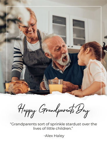 Laughing in The Kitchen – Happy Grandparents Day Card