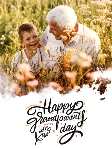 Smiling Together – Happy Grandparents Day Card