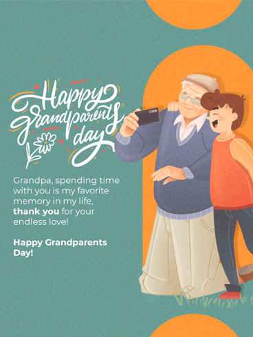 Selfie Together – Happy Grandparents Day Card