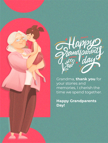 Hugs – Happy Grandparents Day Card