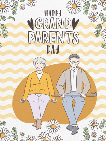 Old But Gold – Happy Grandparents Day Card