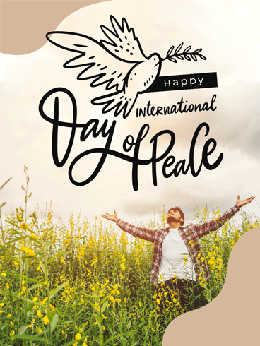 Moment of Peace – Happy International Day of Peace Card