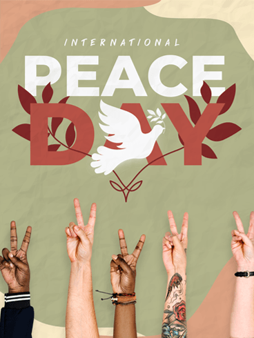 The Peace Wave – Happy International Day of Peace Card