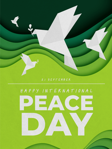Be The Peace – Happy International Day of Peace Card