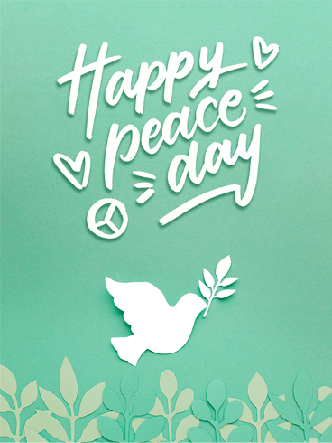 Peace & Happiness – Happy International Day of Peace Card