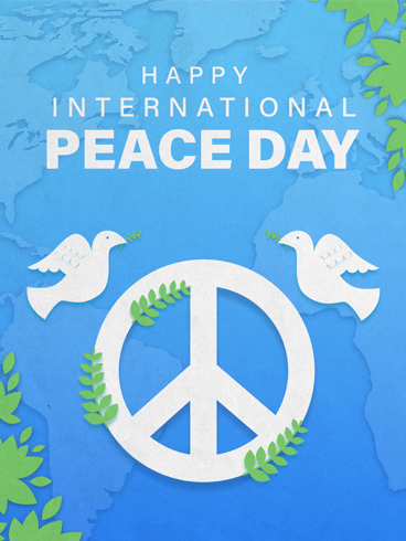 Living Life In Peace – Happy International Day of Peace Card