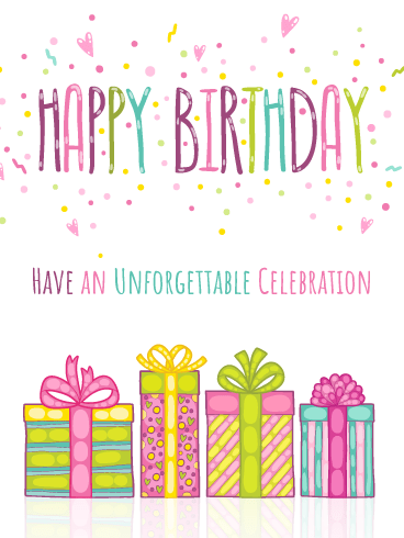 Unforgettable Celebration – Happy Birthday Card