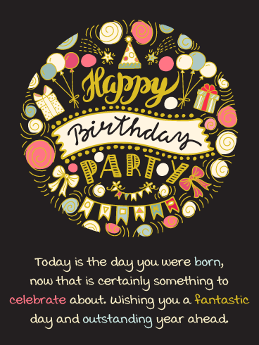 Something to Celebrate – Happy Birthday Card