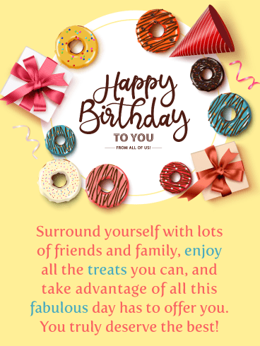 Enjoy the Treats – Happy Birthday Card