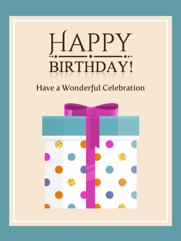 A Wonderful Celebration with Big Gift Box – Happy Birthday Card