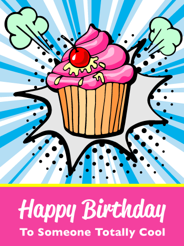 Cool Cupcake – Happy Birthday Card