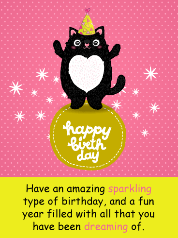 Celebration Cat – Happy Birthday Card