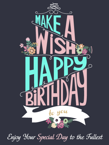 Make a Special Wish – Happy Birthday Card