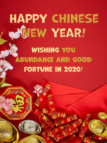 Good Fortune in 2020 - Happy Chinese New Year Card for 2020