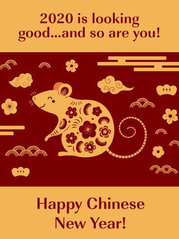 Looking Good - Happy Chinese New Year Card for 2020