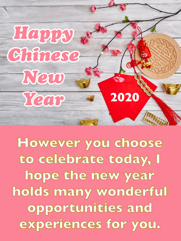 Red Envelopes - Happy Chinese New Year Card for 2020