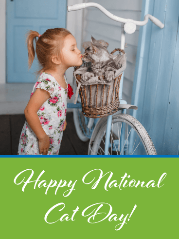 Little Kisses – Happy Cat Day Card