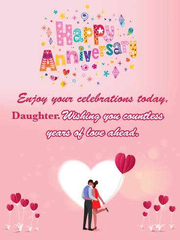 Countless Years of Love - Happy Anniversary Card for Daughter