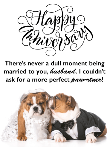 Perfect Paw-tner- Happy Anniversary Card for Husband