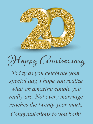 An Amazing Couple – Happy 20th Anniversary for Couple