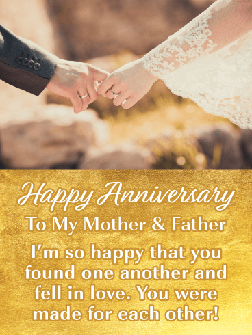 You Fell in Love – Happy Anniversary Card for Parents