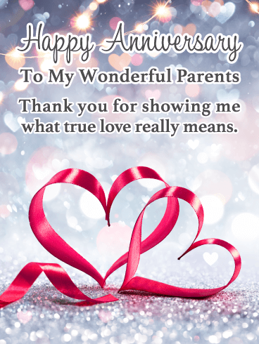True Love – Happy Anniversary Card for Parents