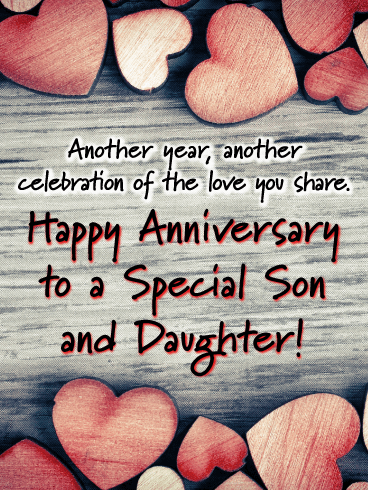 The Lasting Bond- Happy Anniversary Card for Son and Daughter