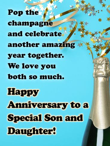 For Two Special People - Happy Anniversary Card for Son and Daughter