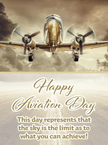 The Sky is the Limit – Happy Aviation Day Card