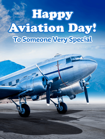 Beautiful Airplane – Happy Aviation Day Card
