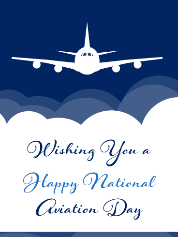 Over the Clouds – Happy Aviation Day Card