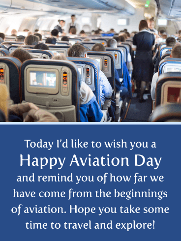 Travel & Explore – Happy Aviation Day Card