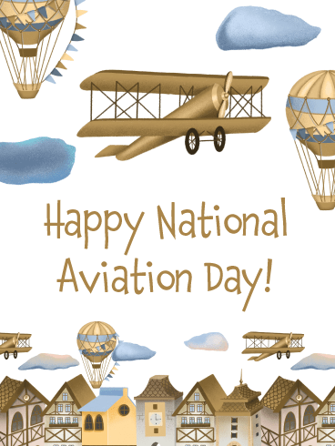 Fun Day of Flying – Happy Aviation Day Card