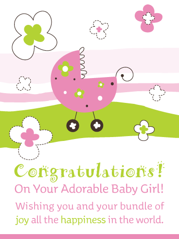 Your Bundle of Joy! Baby Girl Card